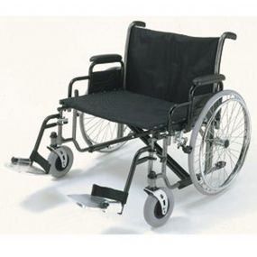 Bariatric Self-Propelled Wheelchair with Detachable Arms and Swing Away Footrests