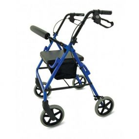 Folding Lightweight Compact Aluminium Rollator - Blue