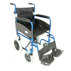 Z-Tec Folding Transit Wheelchair Aluminium - 19