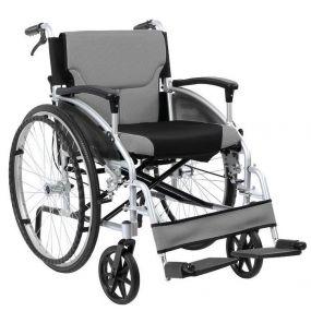 D Lite Folding Aluminium Self Propelled W/chair Attendant Handbrakes - Silver (18