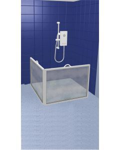 Compact Portable Shower Screen - 2 screen , panel width : 100cm (39