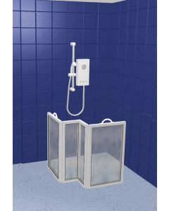 Compact Portable Shower Screen - 4 screen, panel widths : 45cm(18