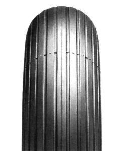 Impac - Pneumatic Black Tyre (Pattern Rib IS300) - Size: 400 x 8