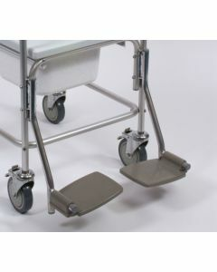 Aluminium Commode and Shower Chair - Replacement Footrests