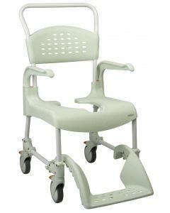 Etac Clean Mobile Shower / Commode Chair (49cm) - Attendant (Green)