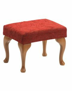 The Queen Anne High Seat Chair - Foot Rest (Crimson)