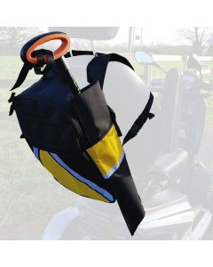 Mobility Smart High Visibility Scooter & Wheelchair Bag - Crutch Holder