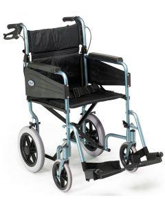 Escape Lite Lightweight Wheelchair - Silver Blue - Wide