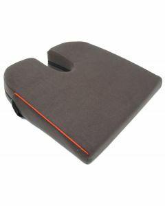 Harley 8° Designer Coccyx cut-out Wedge Cushion - Black (14x14x2.75