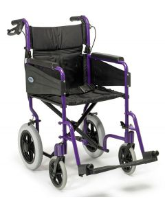 Escape Lite Lightweight Wheelchair - Purple - Wide