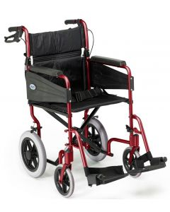 Escape Lite Lightweight Wheelchair - Red - Wide