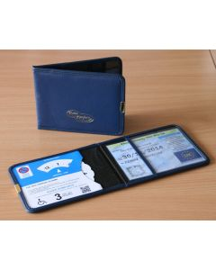 Plastic Blue Badge & Timer Wallet - Blue