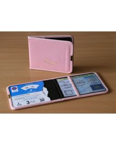 Plastic Blue Badge & Timer Wallet - Pink