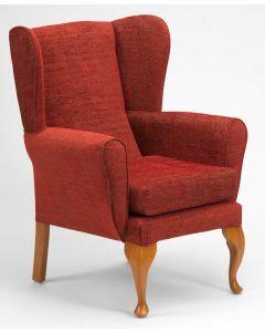 The Queen Anne High Seat Chair - Crimson