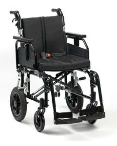Super Deluxe 2 Alu Wheelchair - Black 20 Inch Transit