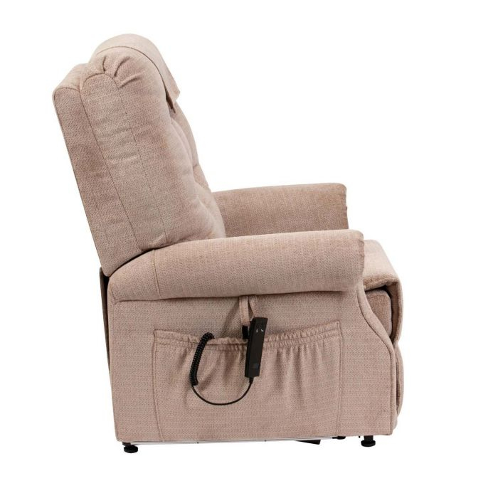 Serena Riser Recliner Chair Waterfall Back (Oatmeal)